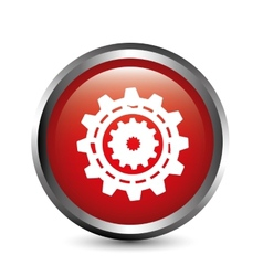 gear button vector image