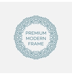 geometric frame in mono line style vector image vector image