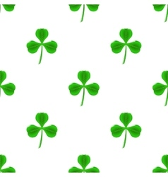 Green Clover Seamless Pattern vector image vector image