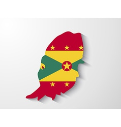 Grenada country map with shadow effect vector
