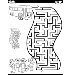 Maze or labyrinth for coloring vector