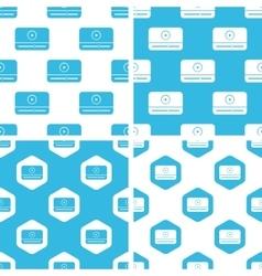 Mediaplayer window patterns set vector