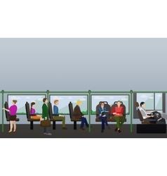 Passengers public transport concept banner vector