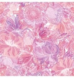 Pink Soft Floral Pattern vector image vector image