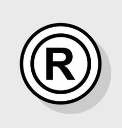 Registered trademark sign flat black icon vector