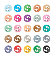 Set of 16 reset icons or refresh icons vector