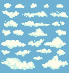 Set of Clouds on blue sky vector image vector image