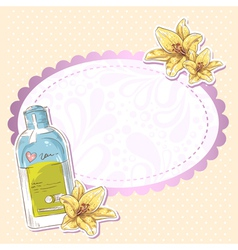 Skincare make-up bottle isolated card vector image