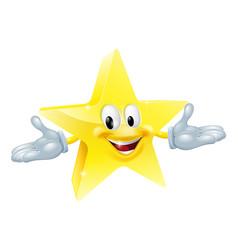 star man character vector image vector image