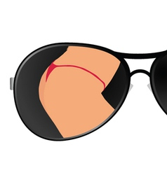 sunglass with girl art vector image