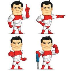 Superhero customizable mascot 5 vector