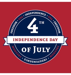 Symbol american 4th july holiday independence day vector