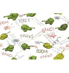Tanks pattern vector