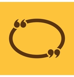 The quotation mark speech bubble icon quotes vector