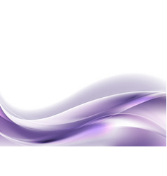 Ultra violet glowing shiny waves abstract vector