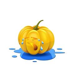 Weeping pumpkin vector