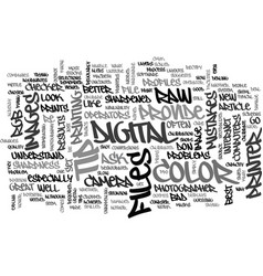 When good color goes bad text word cloud concept vector