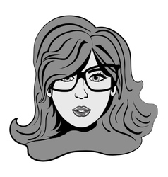Woman comic face vector image vector image