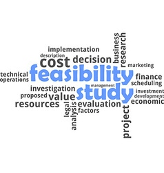 word cloud feasibility study vector image