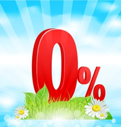 zero percent vector image vector image
