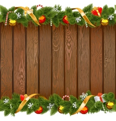 Seamless christmas board with decorations vector
