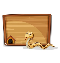 A snake in front of an empty board vector