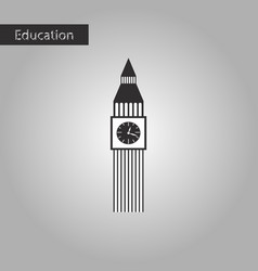 black and white style icon big ben vector image