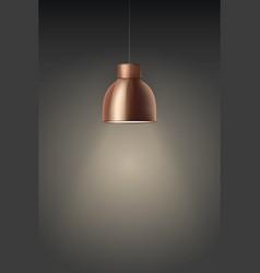 retro brass stylish ceiling cone lamp vector image
