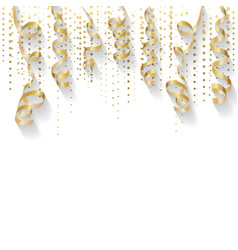 Abstract background with gold confetti gold wavy vector