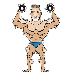 Bodybuilder isolated on white vector