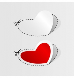 Heart cut outs vector