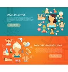 Spa banner horizontal vector