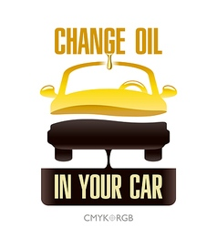 Oil change in your car vector