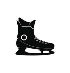 Ice skate black simple icon vector