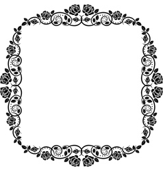frame roses vector image