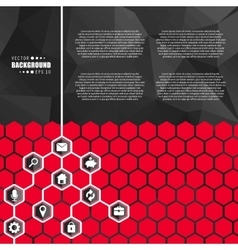 Abstract creative concept hexagon network vector