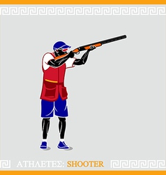 Athlete shooter vector