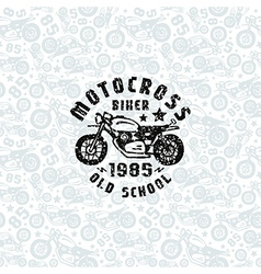 Seamless pattern with motorcycles drawings vector image