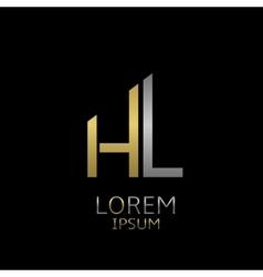 HL letters logo vector image