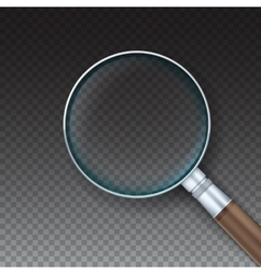 Magnifying glass with reflex vector