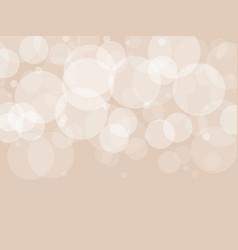 Abstract brown circular bokeh background vector