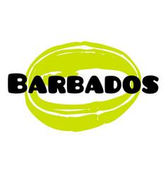 Barbados sticker stamp vector