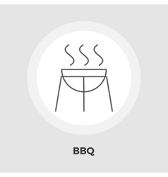 BBQ Icon Flat vector image vector image