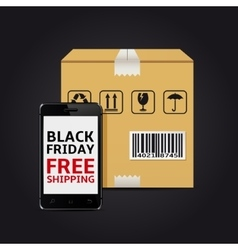 Black friday free shipping vector image vector image