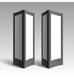 Black white rectangular poster stands pillars vector