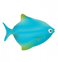 blue fish vector image vector image