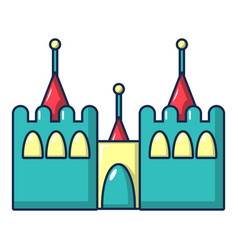 Bouncy castles icon cartoon style vector