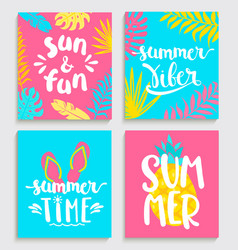 Bright cards for summer vector
