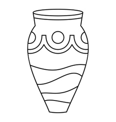 Ceramic vase icon simple style vector