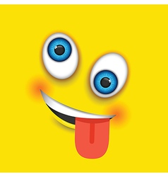 Crazy square emoji vector